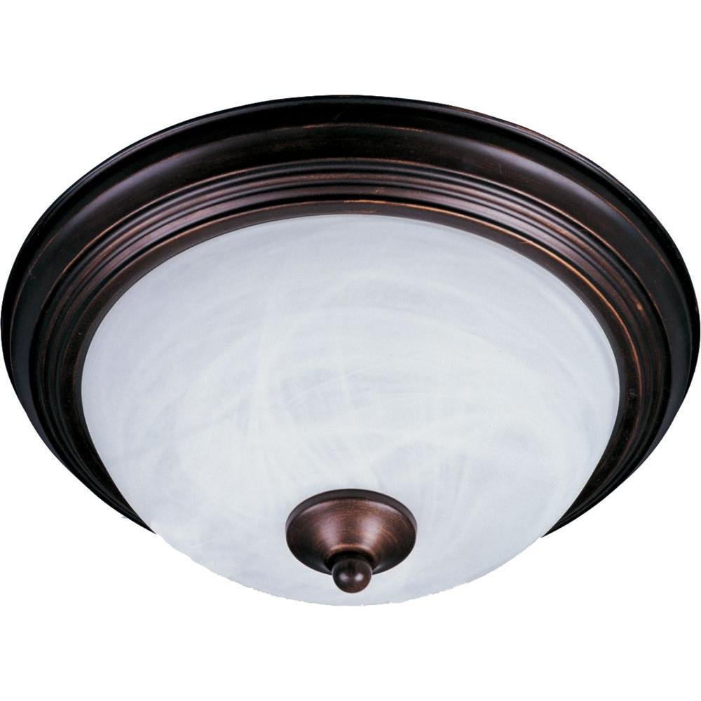 Maxim Lighting Essentials 2-Light Oil-Rubbed Bronze Flushmount