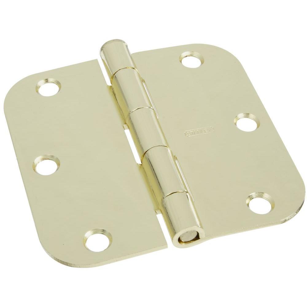 Stanley-National Hardware 3-1/2 in. Polished Brass Door Hinge
