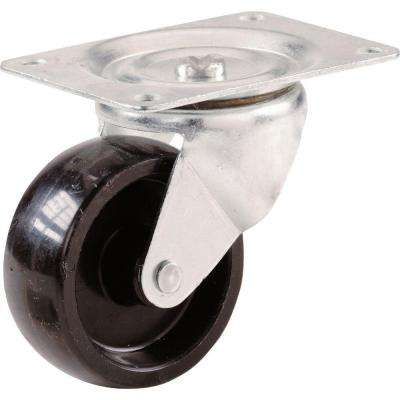3 in. Polypropylene Swivel Plate Caster with 210 lb. Load Rating