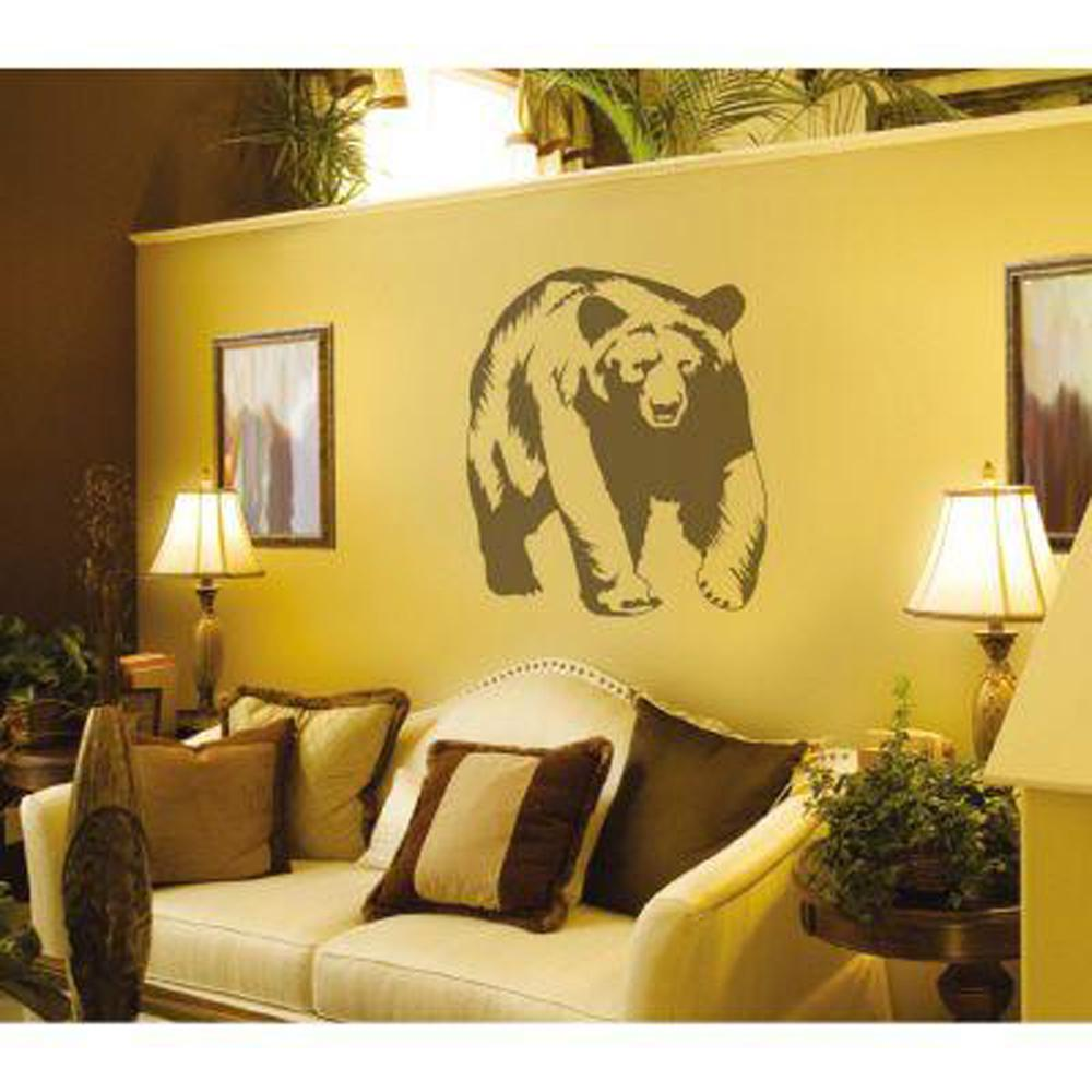 Sudden Shadows 29 in. x 26 in. Bear Wall Decal-02236 - The Home Depot