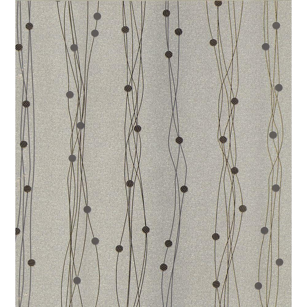 Brewster Gregory Silver Geometric Stripe Wallpaper 141-65502