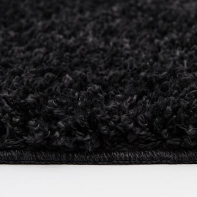 Shag Black Area Rugs Rugs The Home Depot