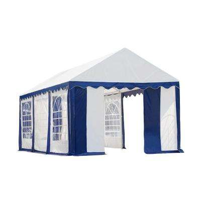 10 ft. x 20 ft. Blue/White Party Tent with Enclosure Kit
