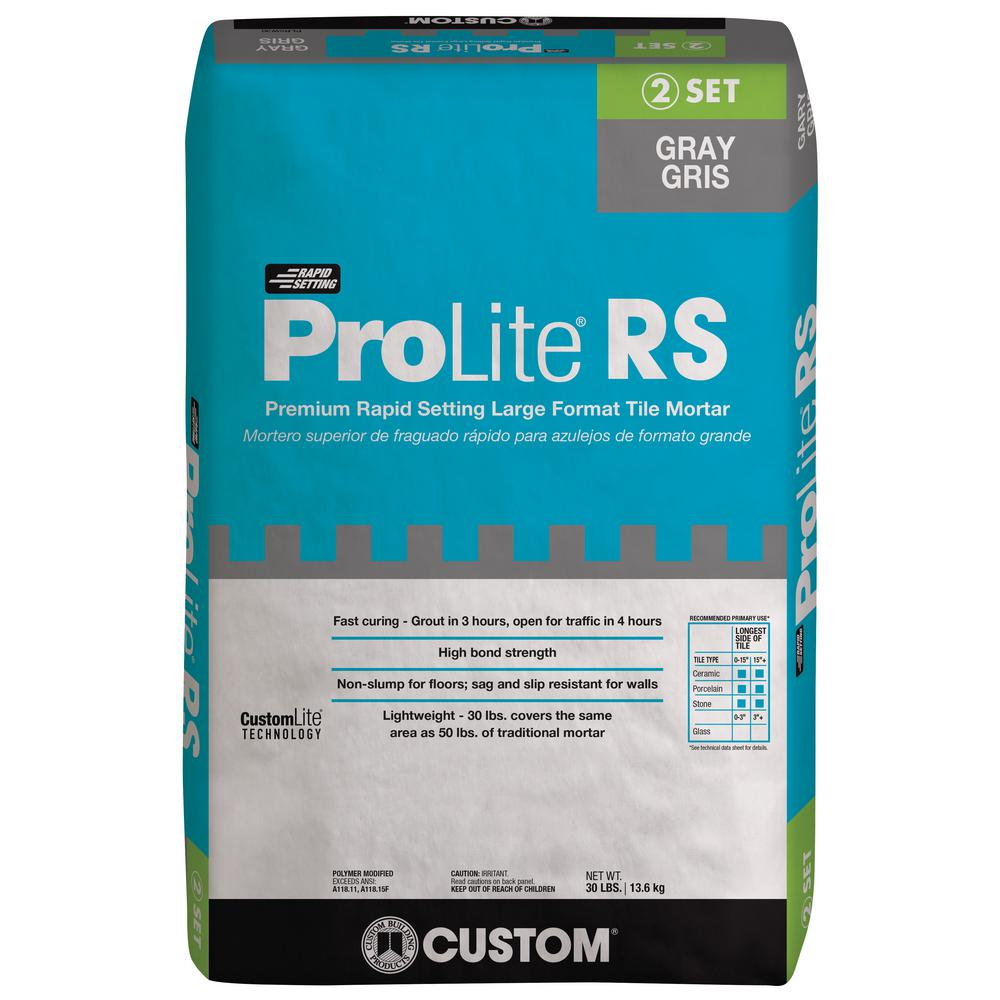 Custom Building Products Prolite 30 Lb Gray Rapid Setting Tile And Stone Mortar