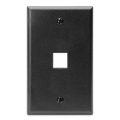 1-Gang QuickPort Standard Size 1-Port Wallplate, Black