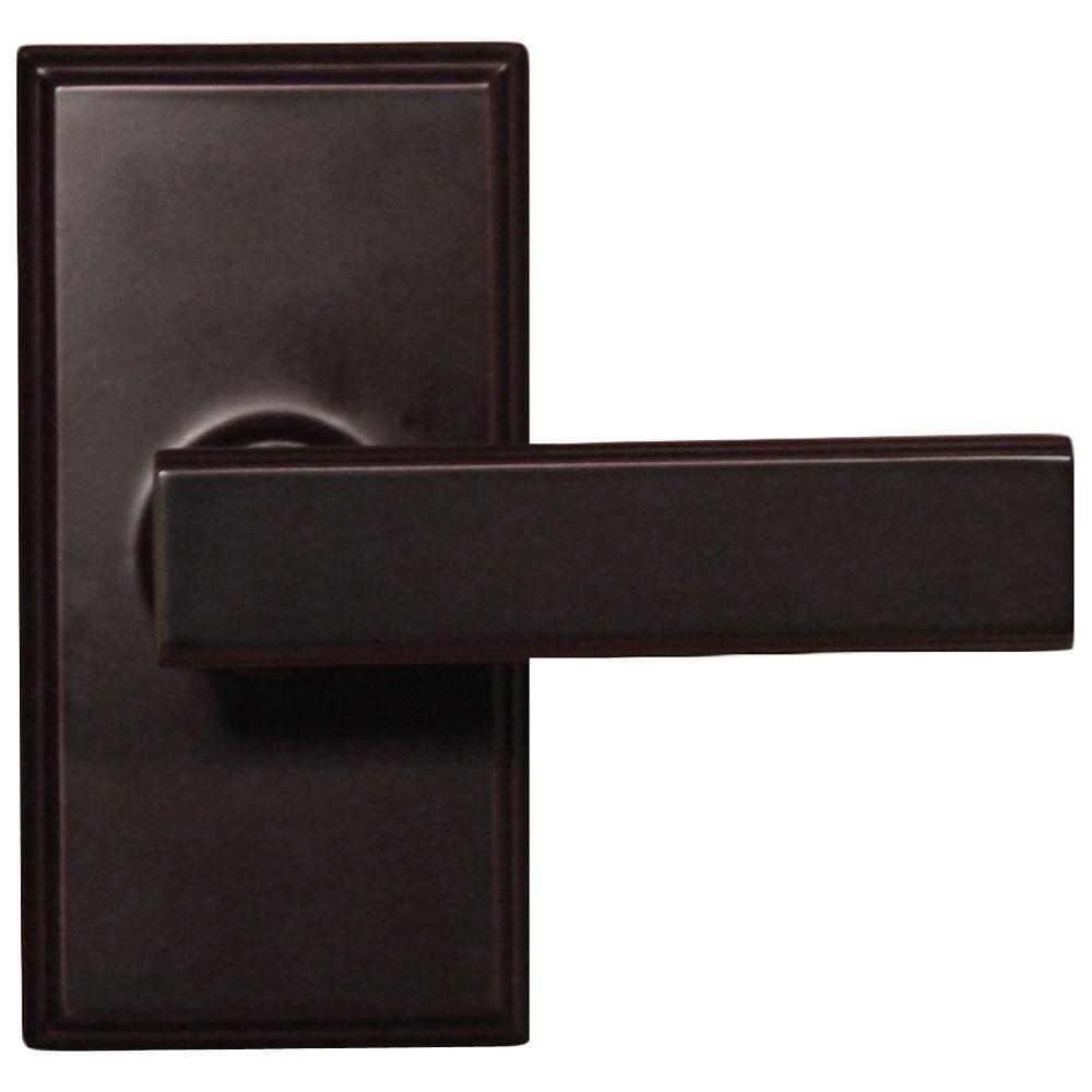 Elegance Oil-Rubbed Bronze Woodward Passage Hall/Closet Utica Door Lever