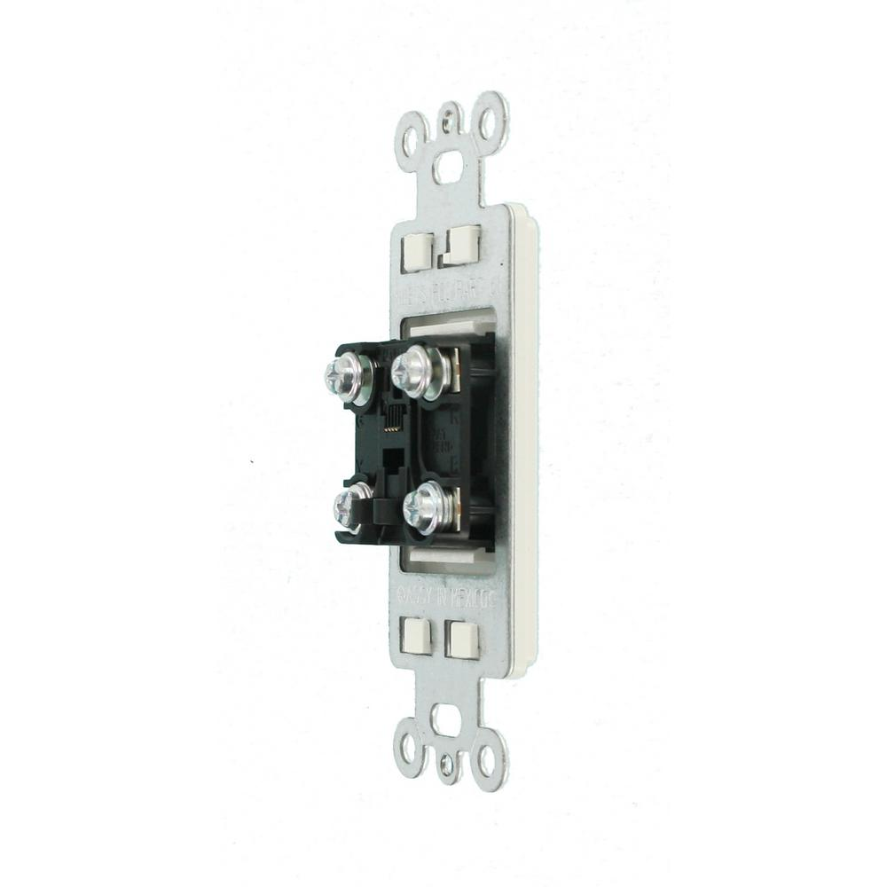 Leviton Decora 6P4C Telephone Insert, White-R92-40649-00W - The Home DepotThe Home Depot