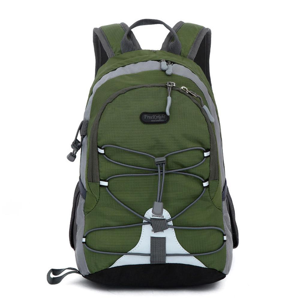 Free Knight FK0611 Waterproof Nylon Mini Sports 5 in. Army Green Backpack for Kids