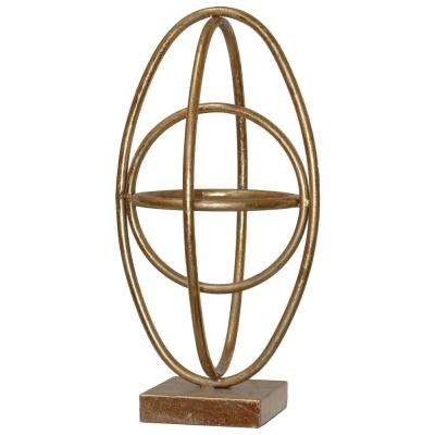 15.25 in. H Sculpture Decorative Sculpture in Gold Leaf