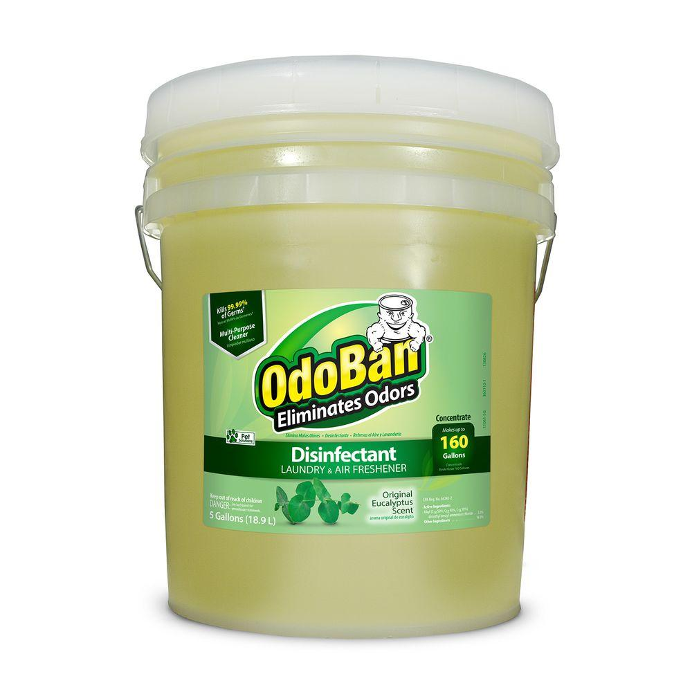 odoban 5 gal eucalyptus disinfectant laundry and air freshener