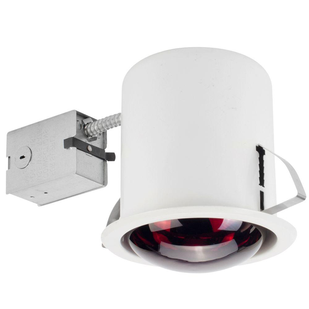 Globe Electric 6 in. White Recessed Heat Lamp Lighting Kit