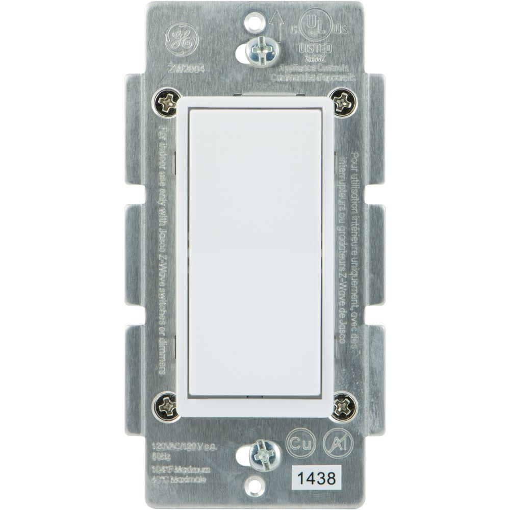 ge 45613 wave wireless lighting control. ge home automation 120 vac 3way auxiliary addon switch almondwhite paddles12723 the depot ge 45613 wave wireless lighting control