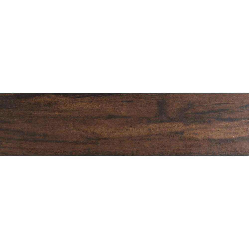 Botanica Teak 6 in. x 36 in. Glazed Porcelain Floor and