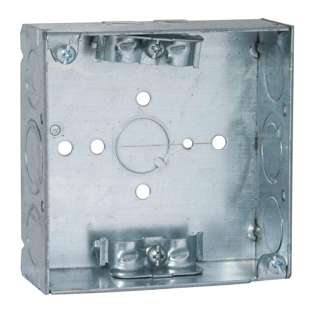 4 in. Square Welded Box, 1-1/2 Deep with NMSC Clamps (50-Pack)