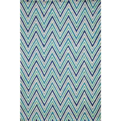 Geo Blue 7 ft. 6 in. x 9 ft. 6 in. Indoor Area Rug