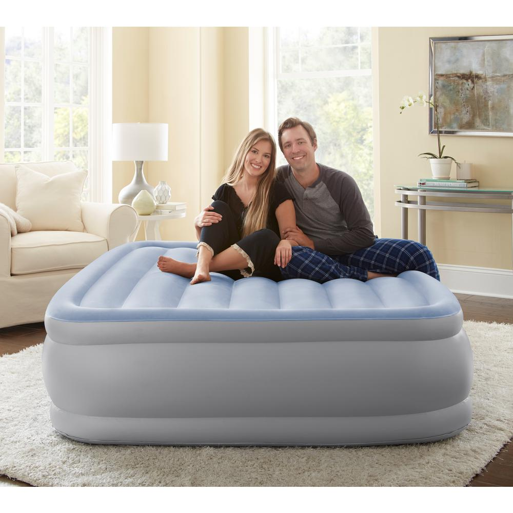 Sensair Queen 17 in. Raised Adjustable Air Bed Mattress with Express