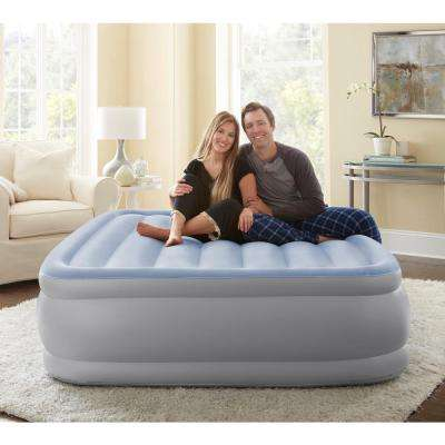 Sensair Queen 17 in. Raised Adjustable Air Bed Mattress with Express Pump