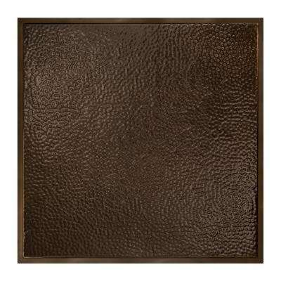Chicago 2 ft. x 2 ft. Lay-In Tin Ceiling Tile in Bronze Burst (Case of 5)