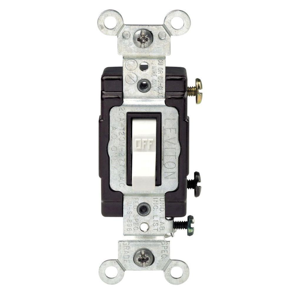 20 Amp Toggle Switch - White