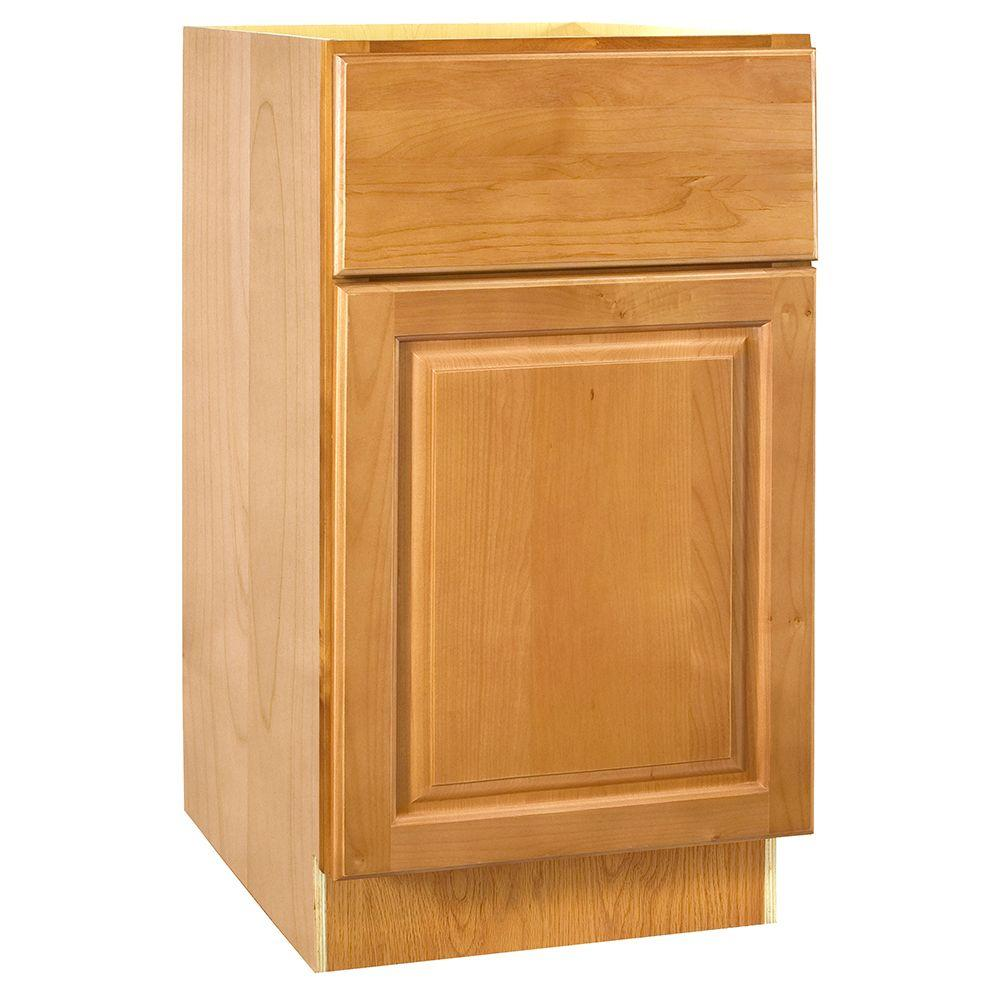 Home Decorators Collection Assembled 18x34.5x24 in. Base Cabinet with 1 Rollout Tray in Woodford Cinnamon