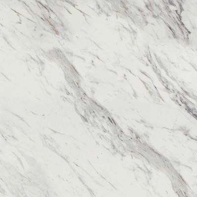 48 in. x 96 in. Laminate Sheet in Calcutta Marble with Premium Textured Gloss Finish