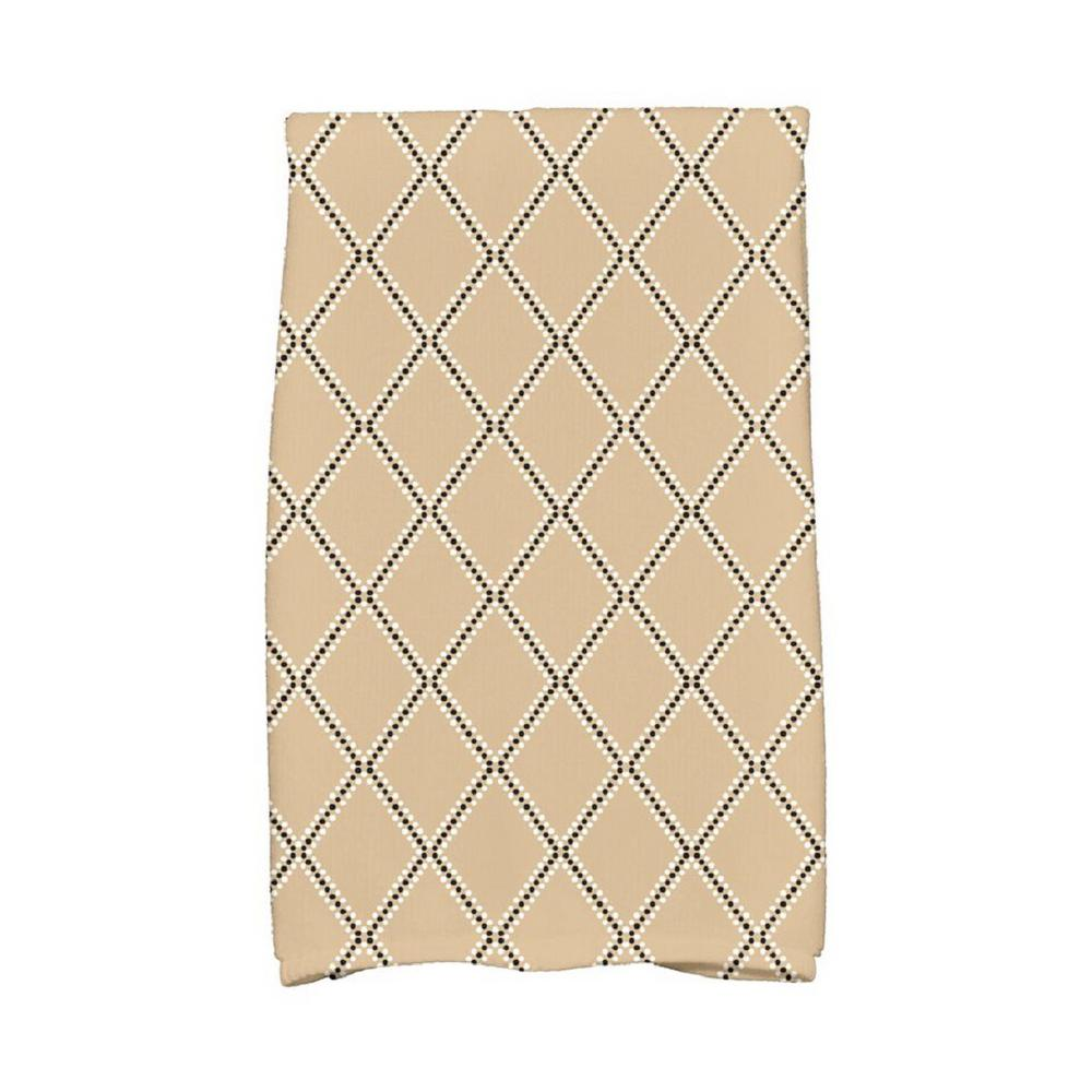 E by Design 16 in. x 25 in. Taupe (Brown) Diamond Dots Holiday Geometric Print Kitchen Towel Spice up your decor with stylish kitchen towels. E By Design's kitchen towel collection includes a variety of fashionable and aesthetic designs you're sure to love. Our kitchen towels are just what you need to complete your kitchen decor. Color: Taupe.