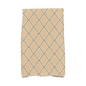 Click here to buy  16 inch x 25 inch Taupe Diamond Dots Holiday Geometric Print Kitchen Towel.