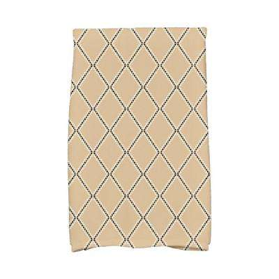 16 in. x 25 in. Taupe Diamond Dots Holiday Geometric Print Kitchen Towel