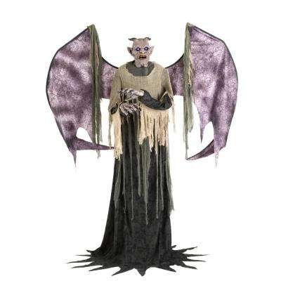 7.5 ft. Animated Life-Sized Winged Demon