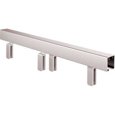 Mod 60 in. Sliding Bathtub Door Track Assembly Kit in Chrome for 3/8 in. Glass