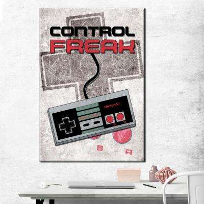 24 in. x 36 in. Nintendo - Control Freak - Gallery Wrapped Canvas Wall Art
