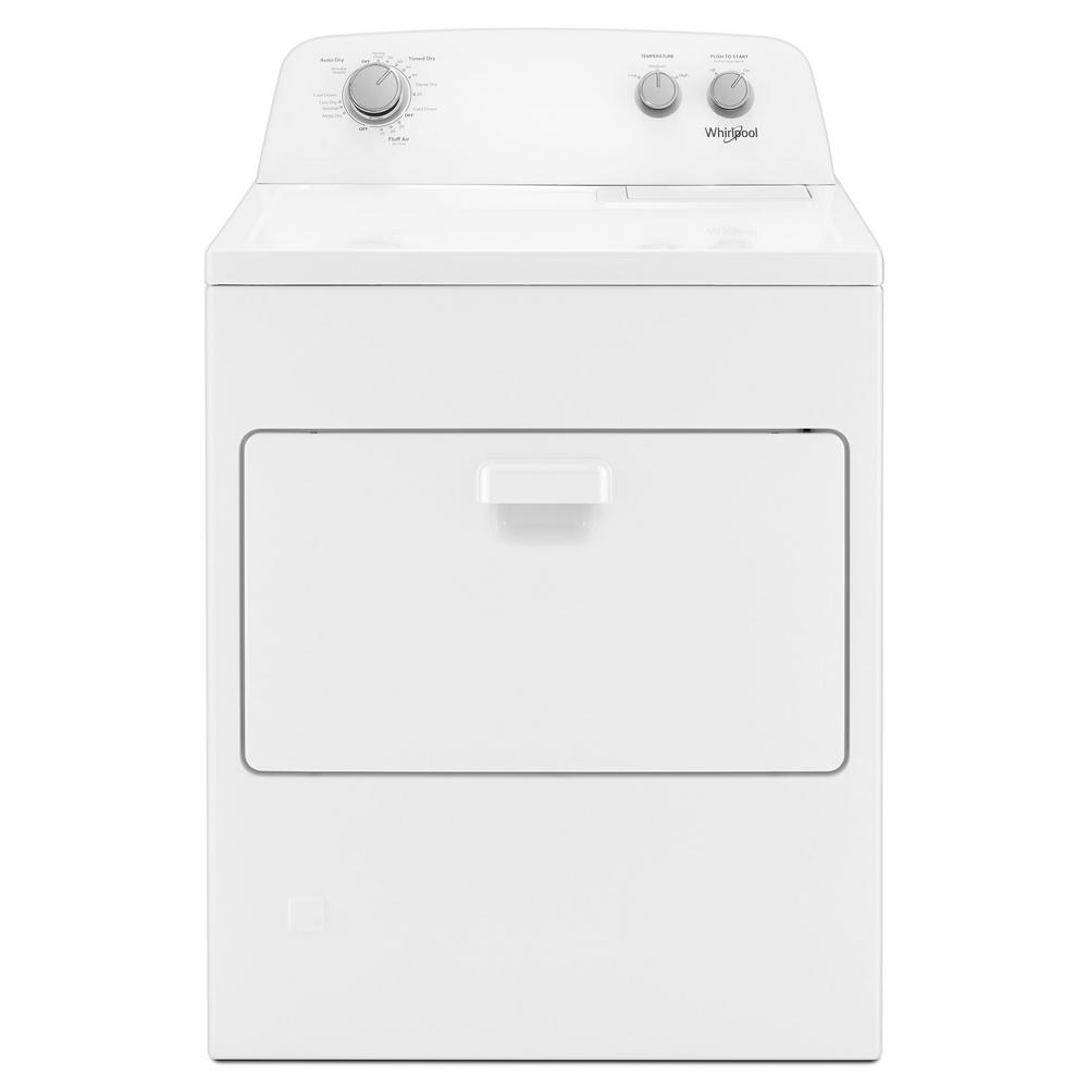 Whirlpool 7 0 Cu Ft 120 Volt White Gas Dryer With