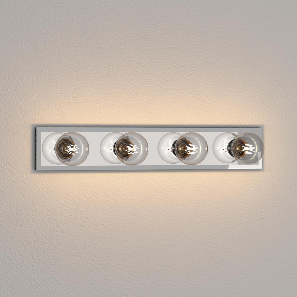 Westinghouse 4 Light Beveled Mirror Interior Bath Bar Light 6644900 The Home Depot