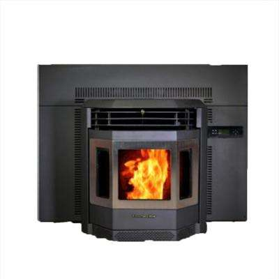 50,000 BTU 2800 sq. ft. EPA Certified Fireplace Insert Pellet Stove with 47 lbs. Hopper with SS Door Trim