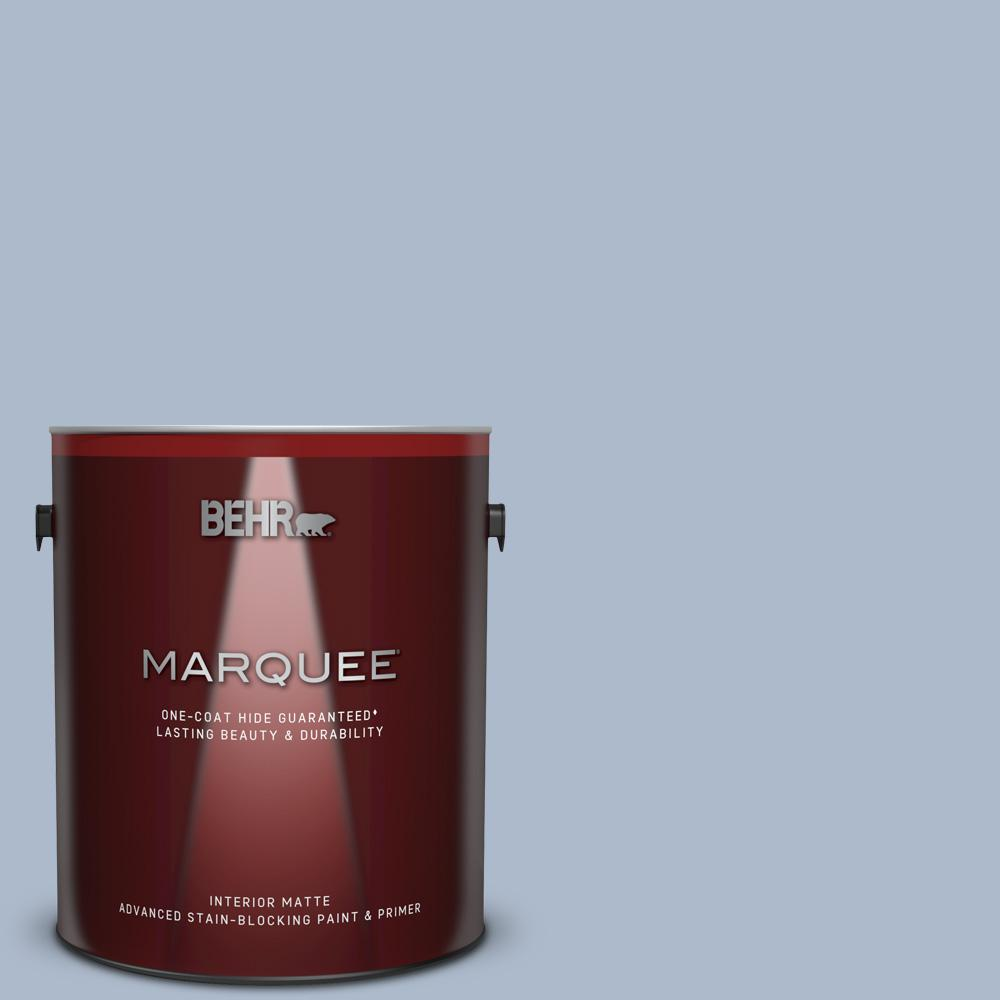 Ppu15 16 Simply Blue One Coat Hide Matte Interior Paint And Primer In