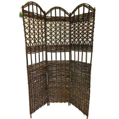 54 in. W x 72 in. H 18 in. per panel 3-Panel Willow Sceen Sets