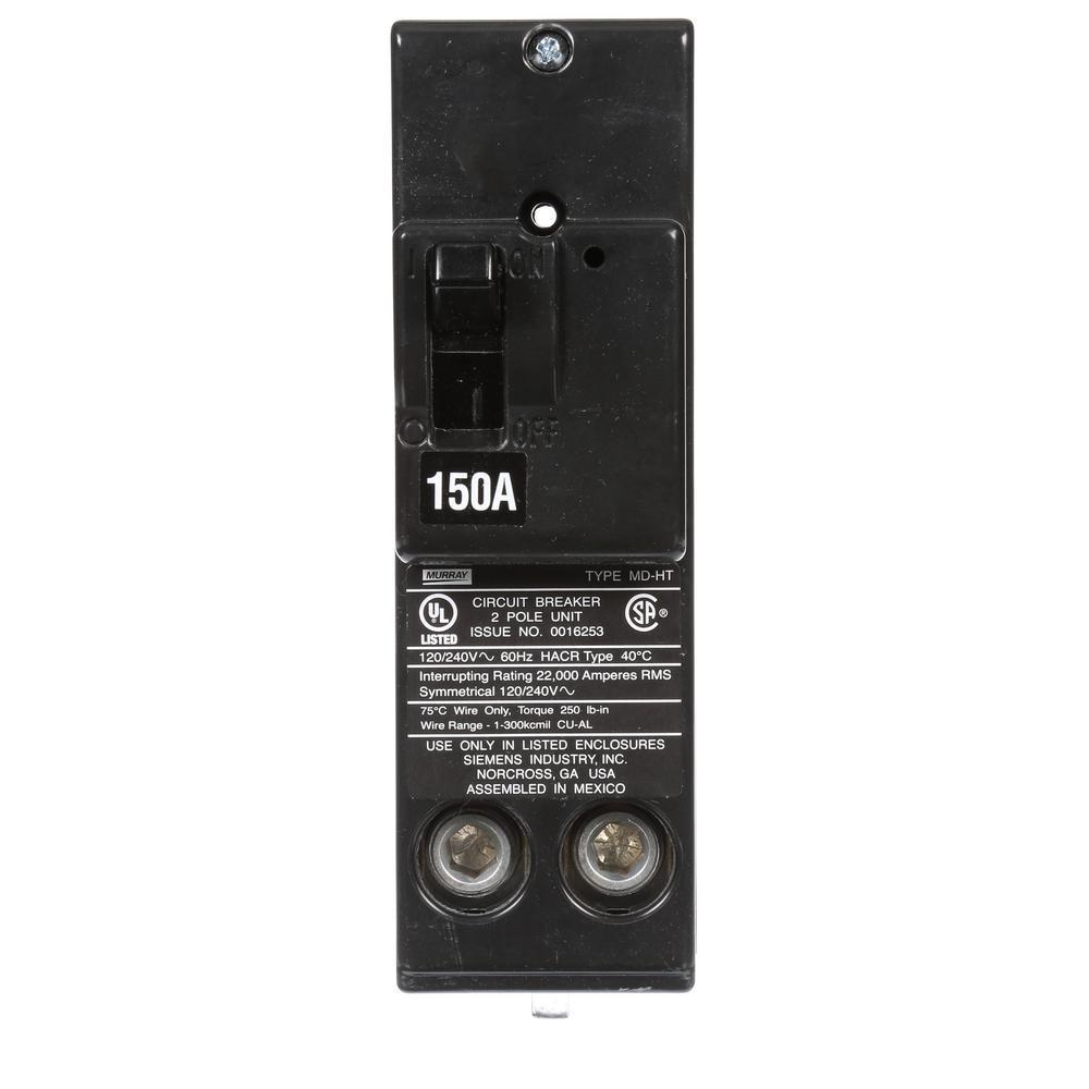 150 Amp 22 kA Type MD-HT Double-Pole Circuit Breaker