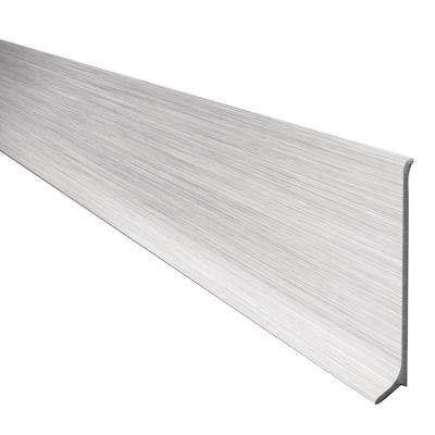 Designbase-SL Aluminum with Brushed Stainless Steel Appearance 2-3/8 in. x 8 ft. 2-1/2 in. Metal Tile Edge Trim