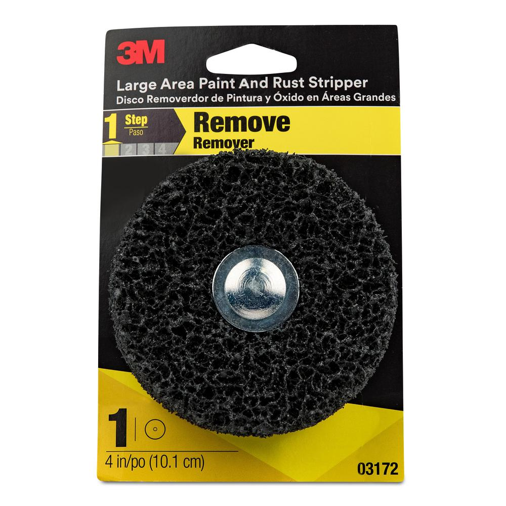 3M 4 in. Round Rust and Paint Remover (4 per case)