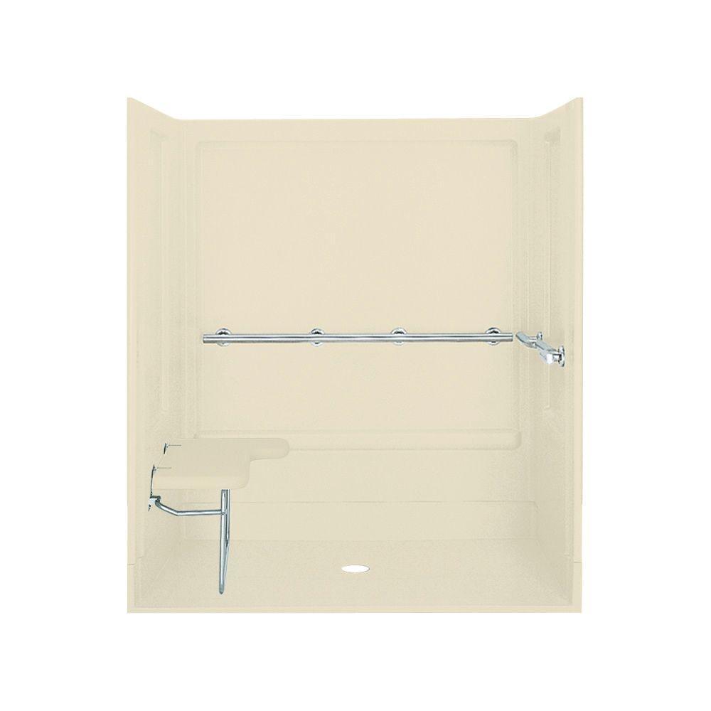 STERLING ADA 39-3/8 in. x 63-1/4 in. x 72 in. Shower Kit in Almond