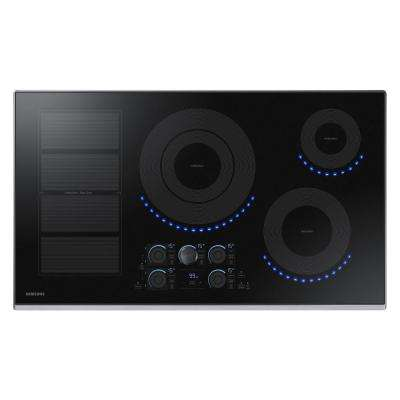 36 in. Induction Cooktop with Stainless Steel Trim with 5 Elements Including Flex Zone Element