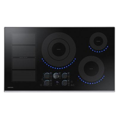 36 in. Induction Cooktop with Stainless Steel Trim with 5 Elements and Flex Zone Element