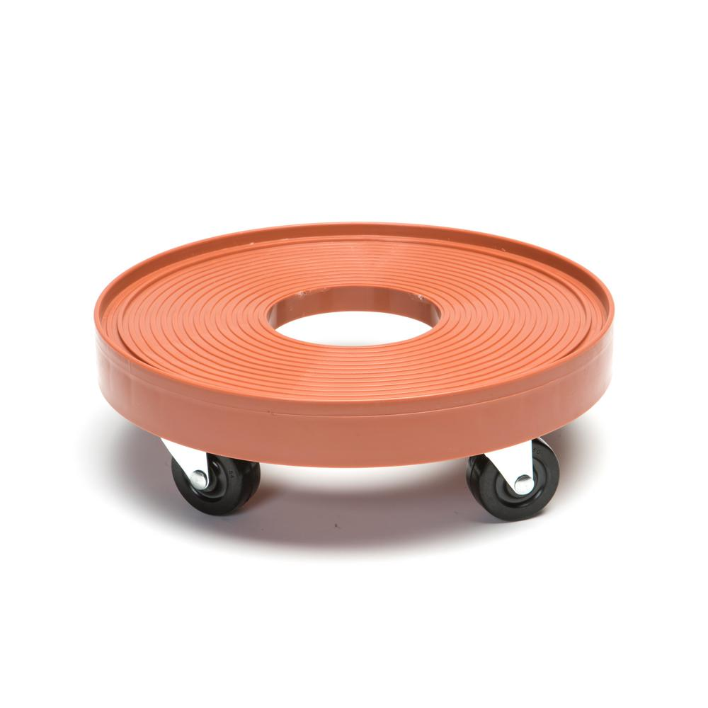 12 in. Terra Cotta Plant Dolly with Hole