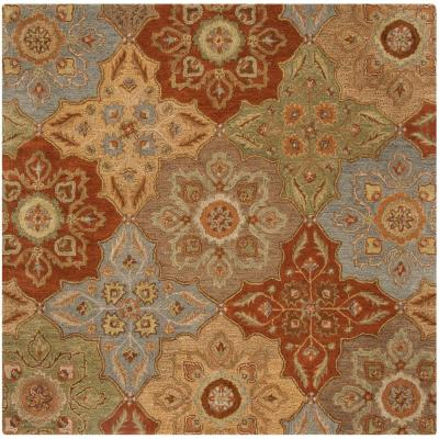 Heritage Multi 6 ft. x 6 ft. Square Area Rug