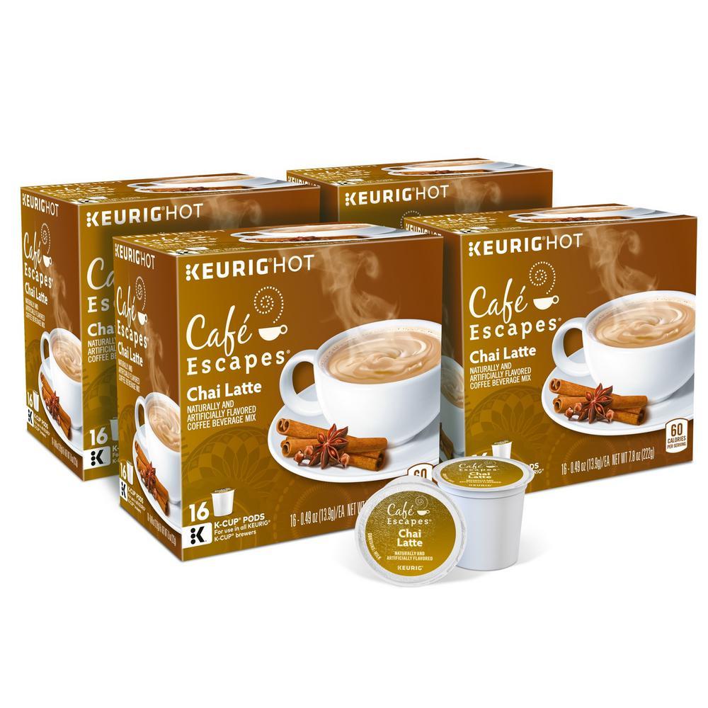 Cafe Escapes Chai Latte K-Cups (64-Counts)