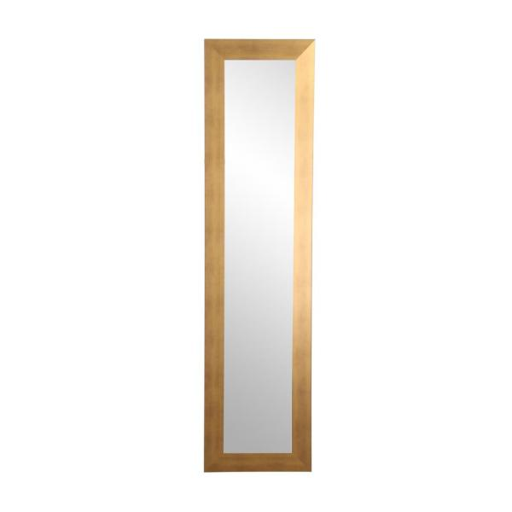 Brandtworks Brushed Gold Slim Floor Mirror Bm68skinny