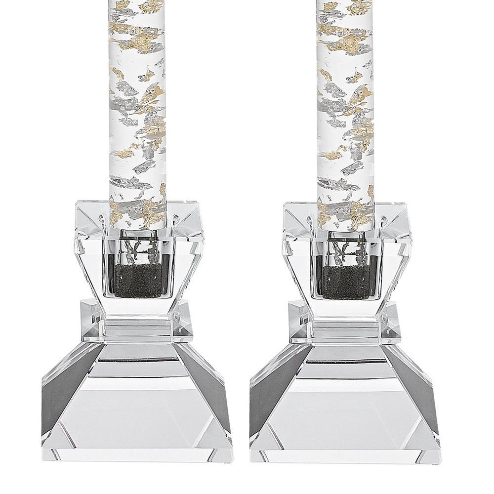 Badash Crystal Saturn Pair Of 2 75 In Candle Holders