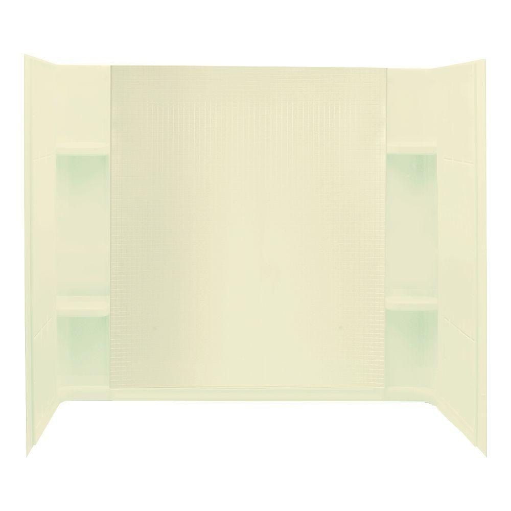 STERLING Accord 32 in. x 60 in. x 55-1/4 in. Three Piece Direct-to-Stud Tub and Shower Wall Set in Almond-DISCONTINUED