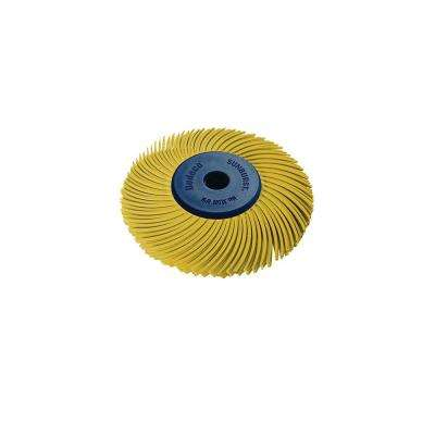 Sunburst - 2 in. 3-PLY Radial Discs - 1/4 in. Arbor - Thermoplastic Cleaning and Polishing Tool, Coarse 80-Grit (1-Pack)