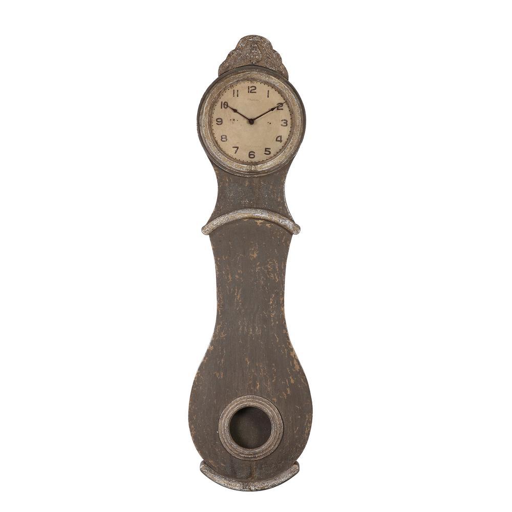 Distressed Grey Grandfather Clock